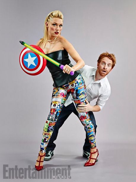 Clare Grant and Seth Green. See more stunning star portraits from our photo studio at San Diego Comic-Con 2014 here: http://www.ew.com/ew/gallery/0,,20399642_20837117,00.html