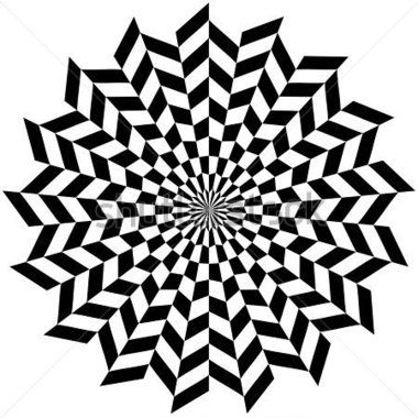 Circle Optical Hypnosis Design Concept for Circle Optical Op Art Flower Style stock vector - Clipart.me
