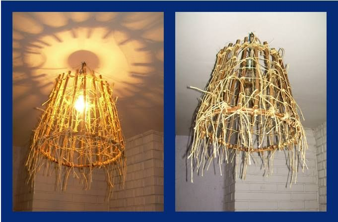 Lamp DIY - natural string and twigs of willow