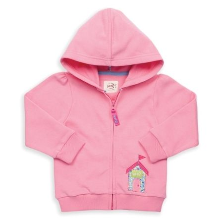 Kite Pink Beach Hut Zip Through Sweatshirt