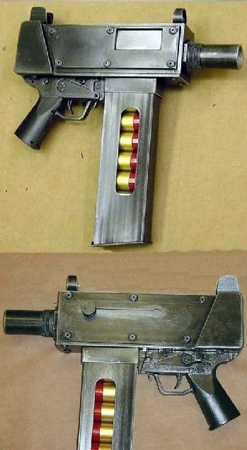 12 gauge machine pistol with rounds that can be stopped by http://bullet-proof-vest-shop.com