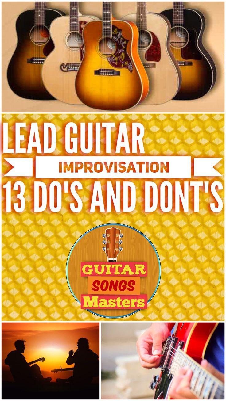 Learn Lead Guitar Improvisation 13 Do S Dont S Acoustic