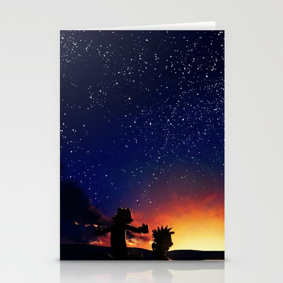 Calvin And Hobbes With Starry Night - $12