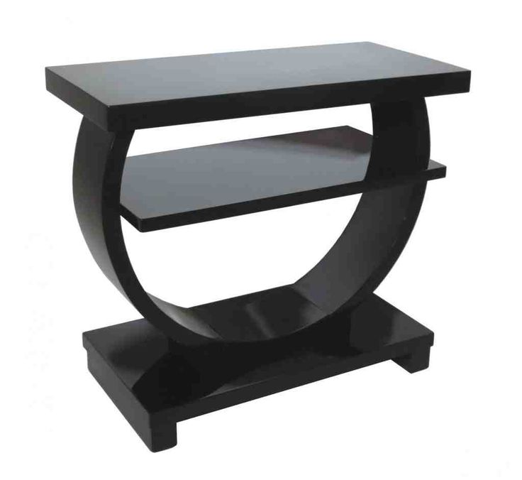 Half Round Side Table. Black End ...