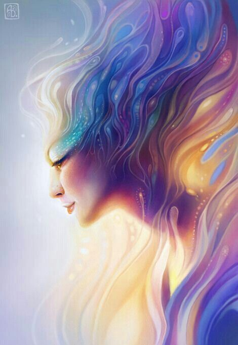Ignite By Escume On DeviantArt The Rainbow Made Her Glow With Translucent  Energy Giving An Ethereal Glow.