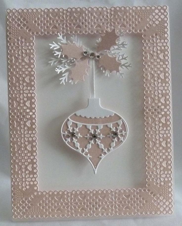 Frame Ornament Christmas Card. $6.99, via Etsy.