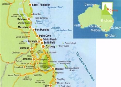 Cairns, Kuranda, Babinda, Port Douglas,  and Lake Tinaroo. Been there!