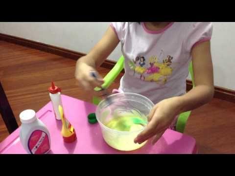 como hacer slime o moco de gorila sin bórax - YouTube