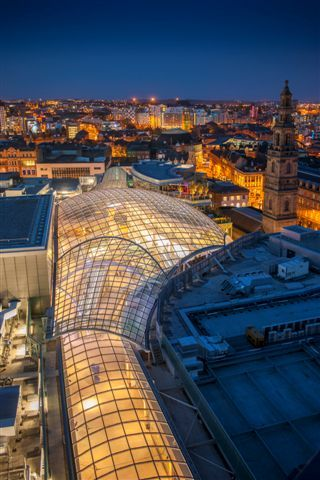 Leeds' skyline looking over the new Trinity Leeds shopping centre, home to Phillip Stoner the Jeweller