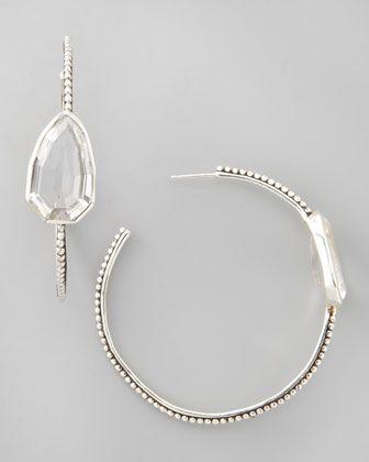 ae6c4cfd6 Cathedral Large Silver Hoop Earrings Rock Crystal | Jewelry | Silver hoop  earrings, Earrings, Hoop Earrings