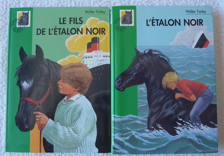 lot de 2 livres Le fils de l'étalon noir et l étalon noir