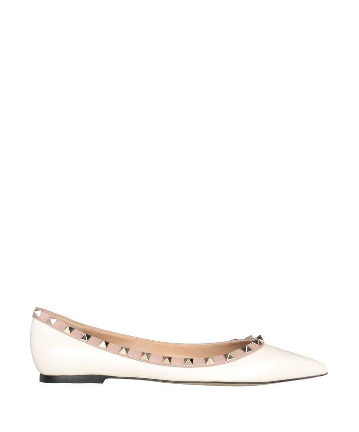 VALENTINO GARAVANI | Valentino Garavani Valentino Garavani Rockstud Patent Leather Flats #Shoes #Flat Shoes #VALENTINO GARAVANI