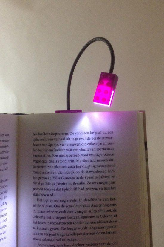 Clip-on Leeslampje Block light - Neon - Red