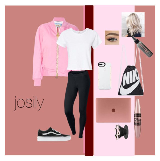 """""""dressed like:josily"""" by juliakrmer on Polyvore featuring Mode, GCDS, NIKE, RE/DONE, Vans, LuMee und Maybelline"""
