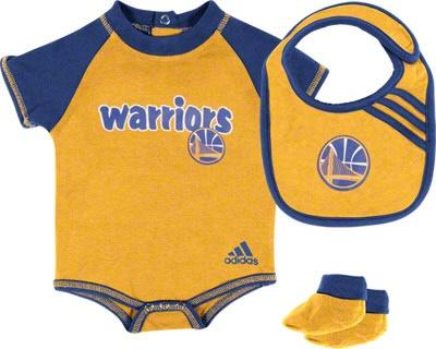 Golden State Warriors Newborn Bib and Bootie Set warriors