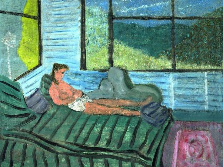 Interior with Figure by Milton Avery (1885-1965, United States)