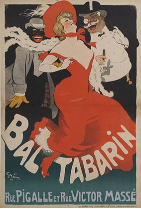Lithography by Jules Grün (1868-1934), Le Bal Tabarin. (F)