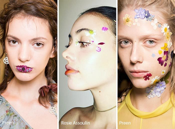 Spring/ Summer 2017 Makeup Trends: Floral Face Art