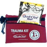 First Aid Trauma Kit - Auto Emergency Kit - QuikClot Blood Clotting Bandage - Stop Bleeding With QuikClot Agent - Used by Military, Police & EMT for Emergency Wound Care - Contains Blood Clotting Products, Latex Free Nitrile Gloves, Gauze, Tape, Anti-septic Wipes - Be Prepared for Emergencies with this Life Saving Kit - Satisfaction Guaranteed /