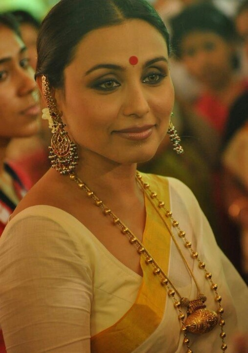 Rani in traditional bengali saree