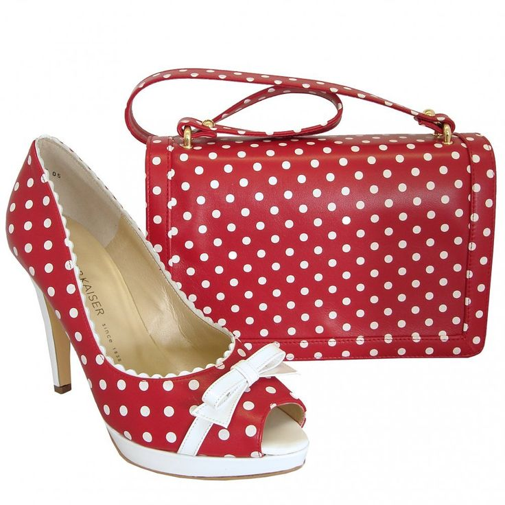 Polka Dot Purses for Sale | ... Womens › Bags › Benita red leather handbag with white polka dots