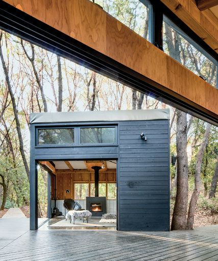 In a radically conceptual family retreat in Northern California, the architect Douglas Burnham has made temporary buildings dramatically consequential.