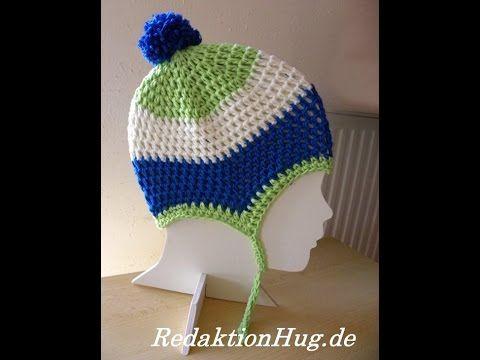 Häkeln Mütze Kindermütze Hatnut Surf Veronika Hug Youtube