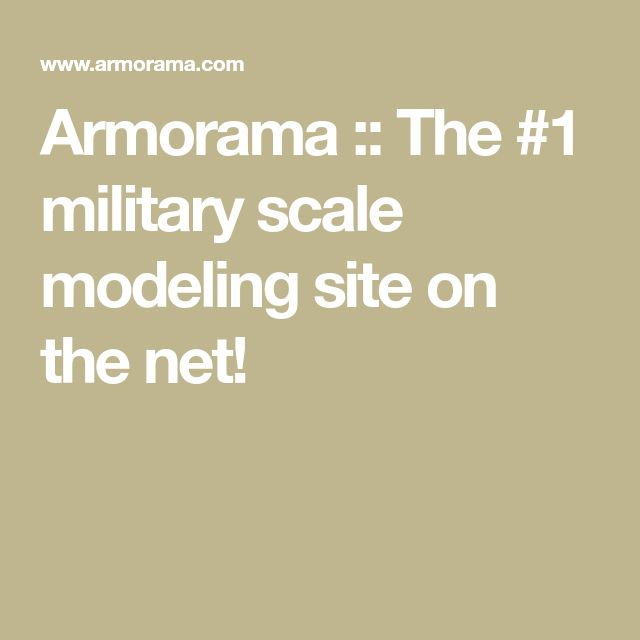 Armorama :: The #1 military scale modeling site on the net!
