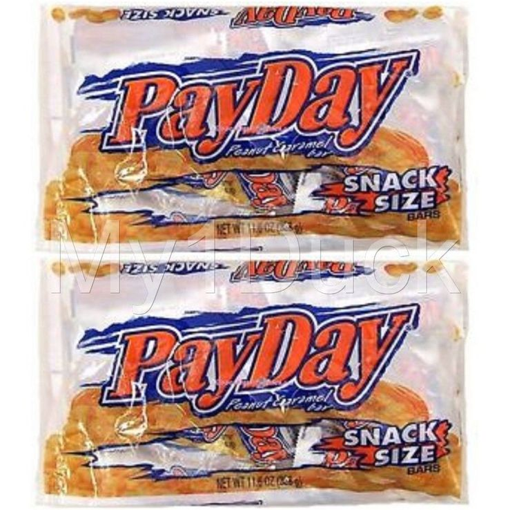 PayDay Snack Size Chocolate Bars ~ 11.6 oz.  ~ (2-PACK) ~ FREE USA SHIP #PayDay