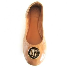 : Moving Monograms, Monograms Ballet, Personalized Gifts, Custom Shoes, Monograms Shoes, Tory Burch, Monograms Tory, Ballet Flats, Monograms Flats