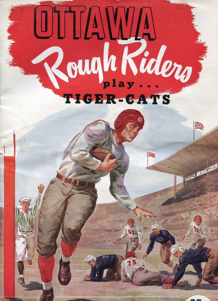1951 Ottawa Rough Riders vs. Hamilton Tiger-Cats pre-CFL program