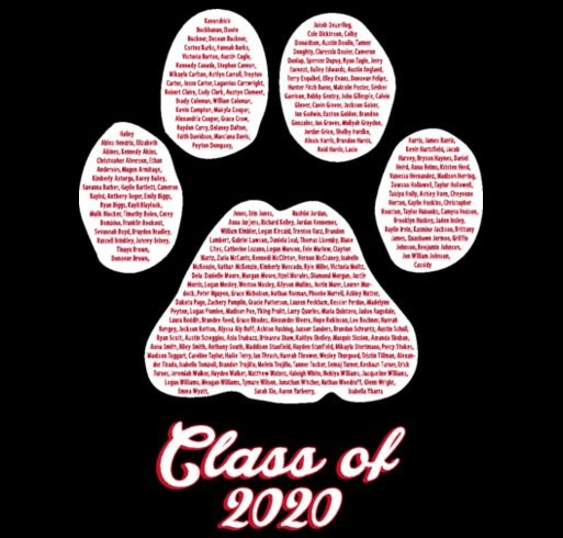 white hall class of 2020 shirt design zoomed