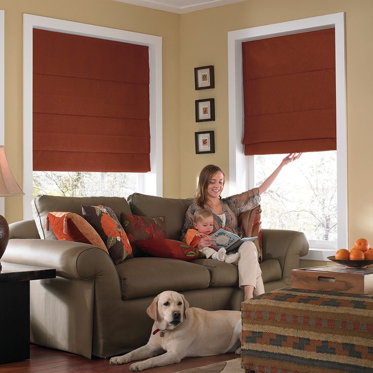 Basic Solid Blackout Roman Shades from SelectBlinds.com