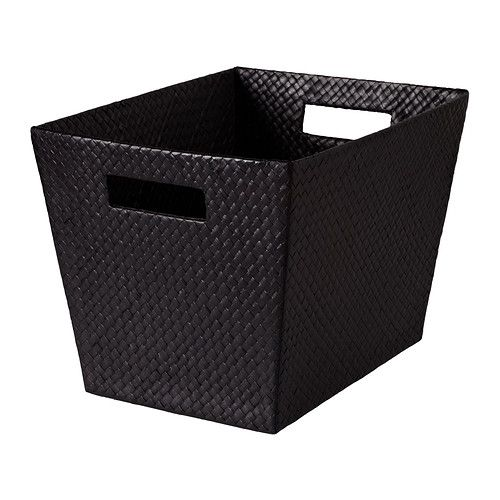 IKEA - BLADIS, Basket, 27x35x25 cm, , Suitable for storing your recipes, receipts, newspaper clippings and photos.Easy to pull out and lift as the basket has handles.