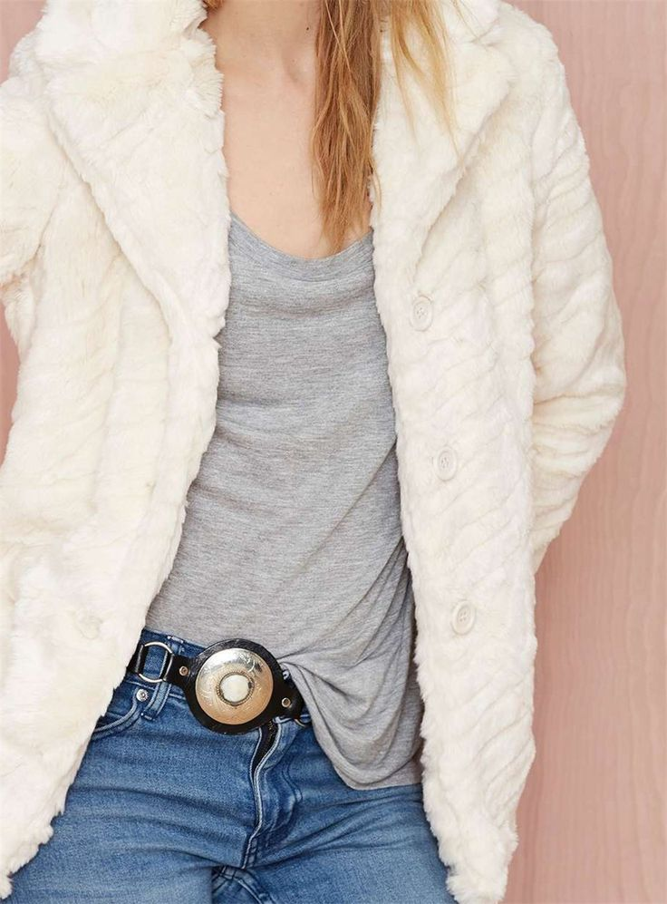 Casual Faux Fur Jacket