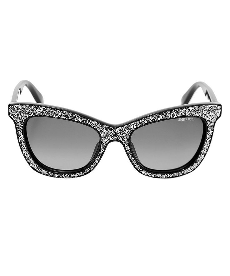 Flash black glitter sunglasses Sale - Jimmy Choo