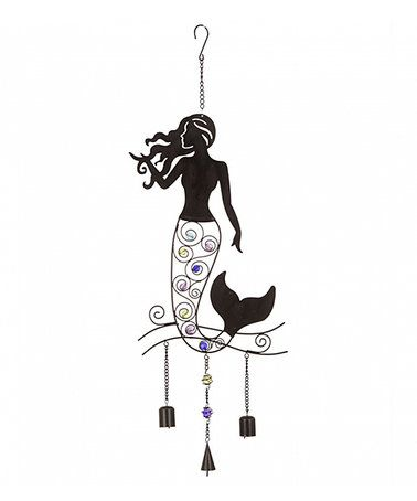 Multi-Color Beaded Mermaid Iron Wind Chime #zulily #zulilyfinds