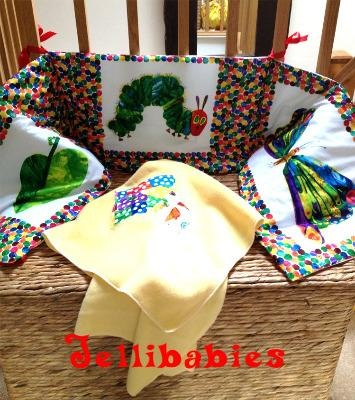 The very hungry caterpillar baby cot bed bumper at www.jellibabies.co.uk