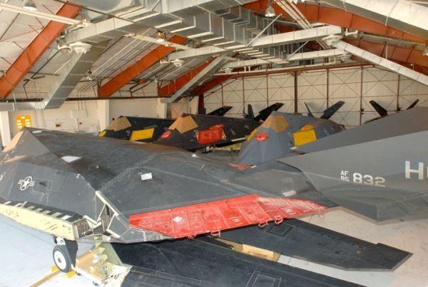 F-117s in storage at Tonapah Test Range.
