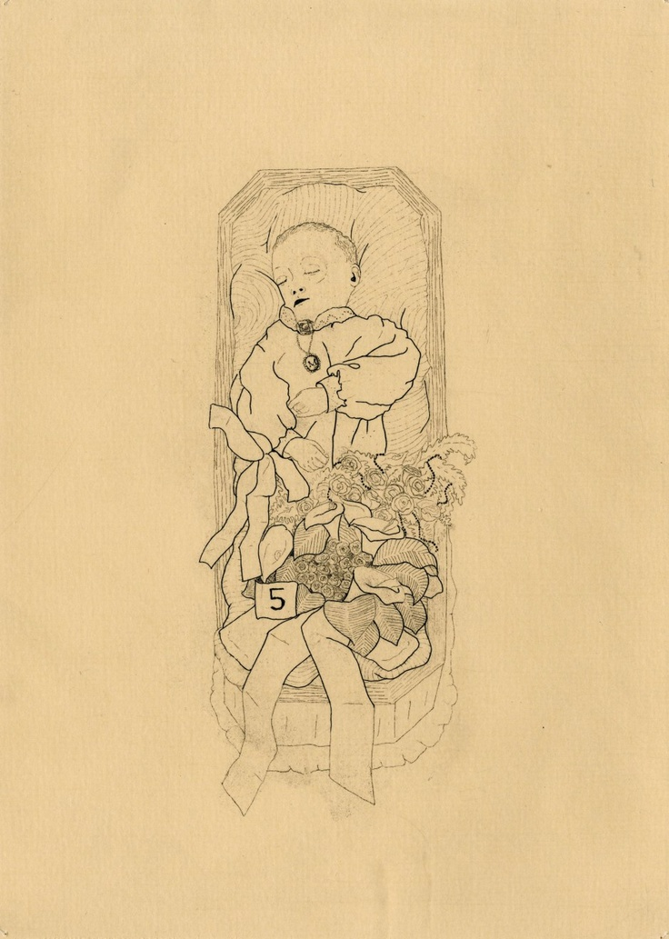 The Hüberman Children and Rabbit (plate two) // copper etching // Eleanor Phillips