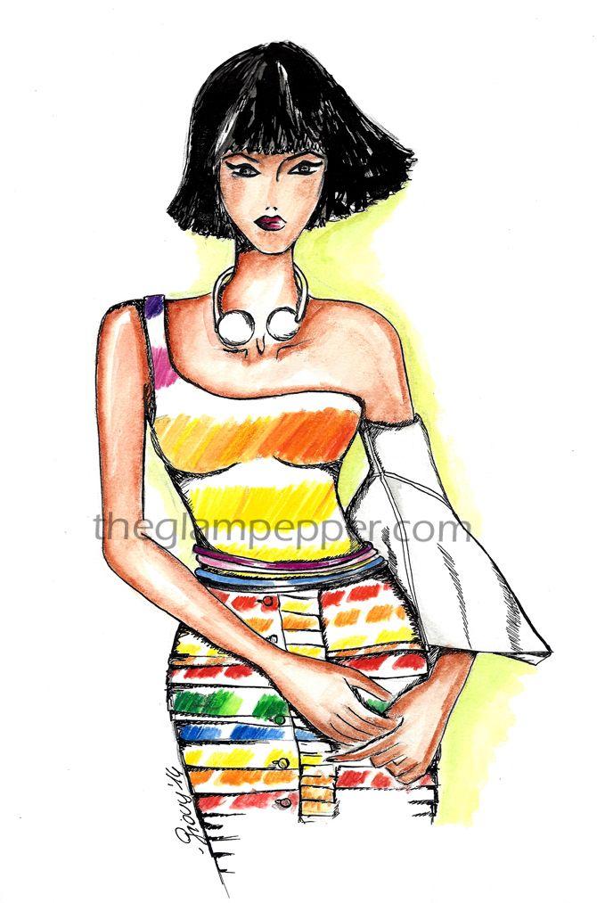 Tendenze moda estate 2014| Potere al colore | http://www.theglampepper.com/2014/07/21/tendenze-moda-primaveraestate-2014-effetto-pantone/ #fashion #sketches
