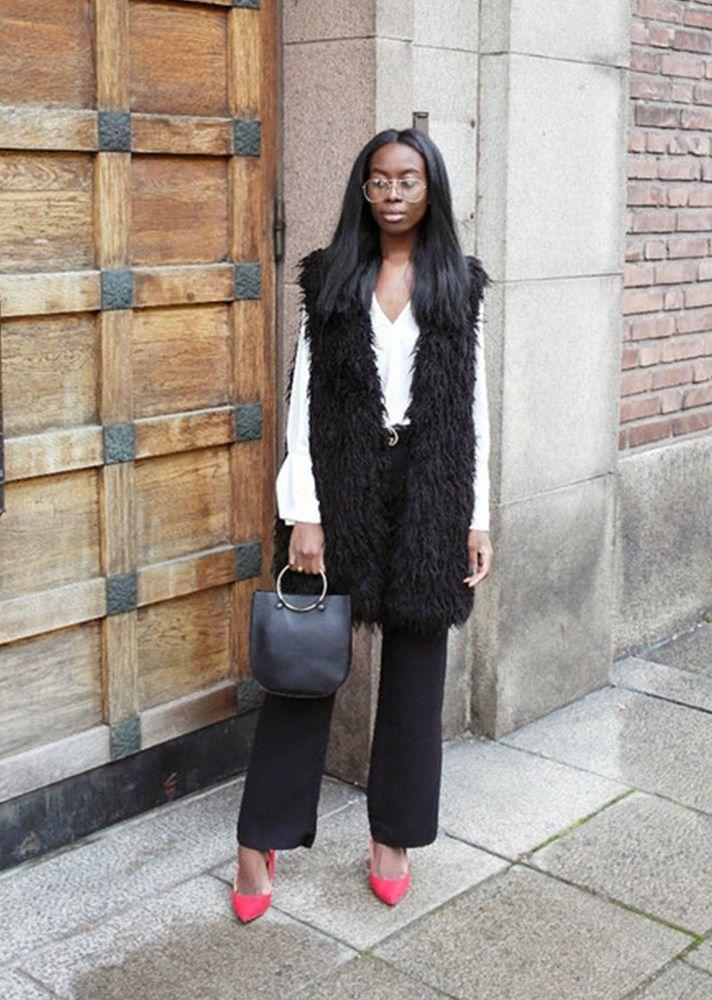 25 Fresh Ways to Wear a Faux Fur Vest