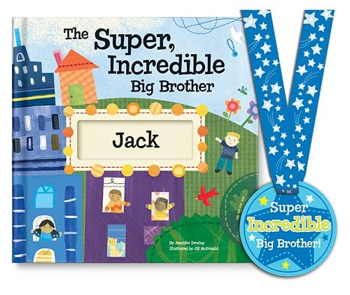 In need of a gift for a new big brother? The Super, Incredible Big Brother personalized kids book from I See Me! will make a new brother feel special.