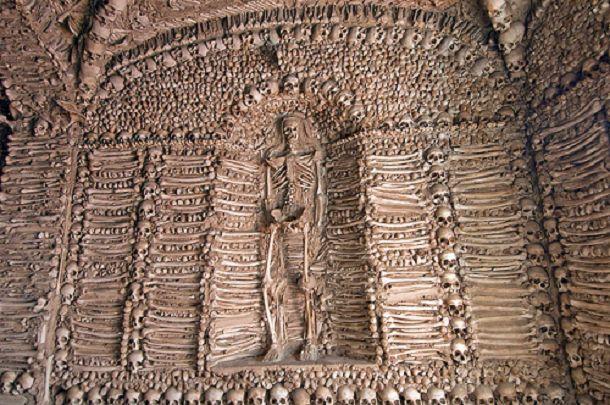 "Capela dos Ossos, Portugal ""Chapel of Bones"" // ""We bones, lying here bare, are awaiting yours."""