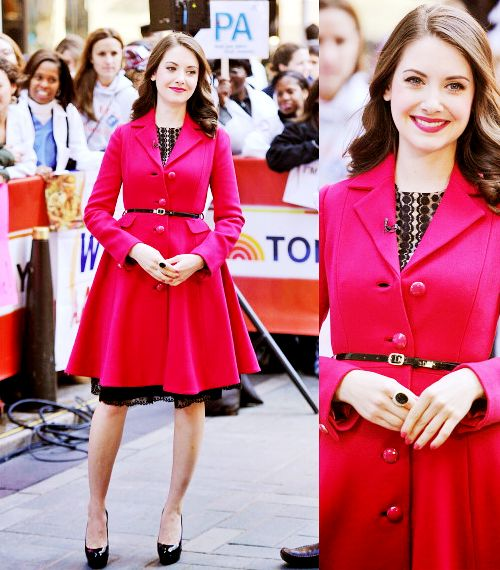 flashandpanache:br br Alison Brie in a Kate Spade coat the Today... photo 1
