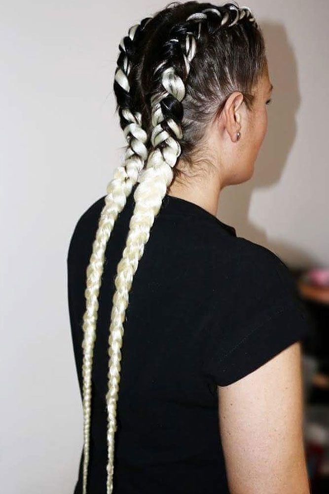 Double Dutch Braids Are So Versatile So You Can Wear Them Every Day Or For A Night Out See Our Photo Ga Braids With Extensions Braided Hairstyles Dutch Braid
