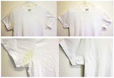 Ako sa zbaviť žltých škvŕn od potu na tričkách.