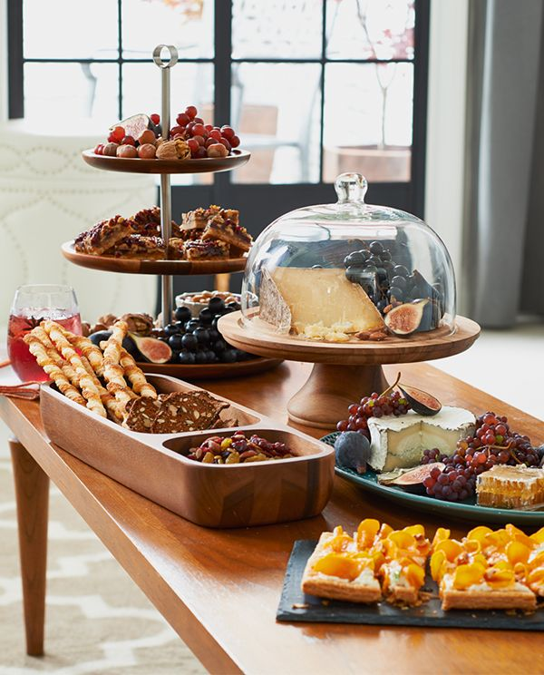 Provide a warm welcoming with wooden serveware.