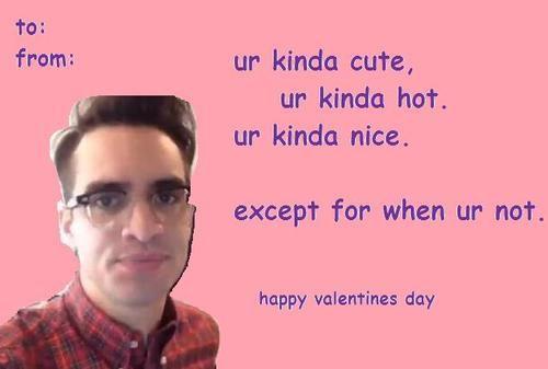 Valentine's Day Brendon Urie