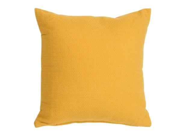 Harbor Textured Cotton Cushion 45 x 45cm, Mustard